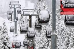 Aspen Snowmass Skiing Powder Day