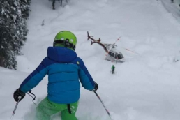 Micah in the powder at Kingfisher Heli