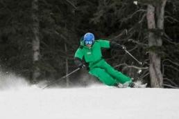 Jonathan Ballou Short Turns Skiing Aspen Snowmass