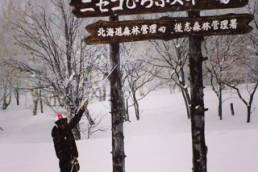 Skiing in Niseko, Japan