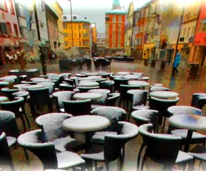 snowy Innsbruck