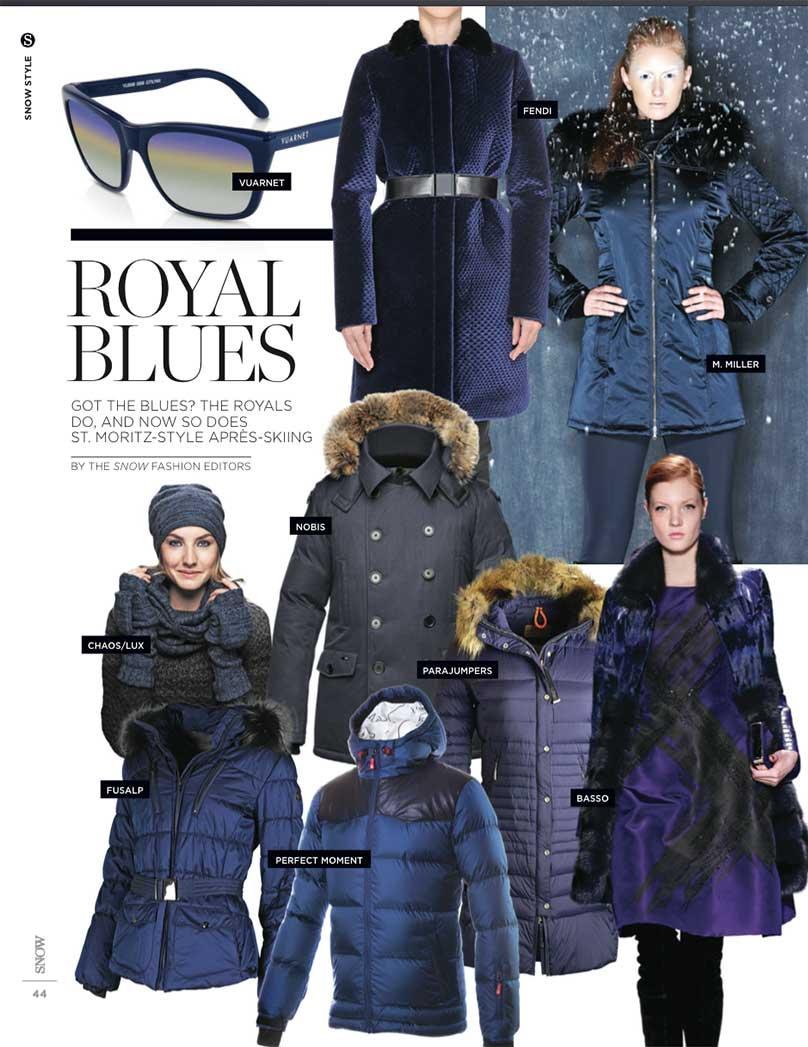 Royal Blues - Ski Fashion Trends 2015
