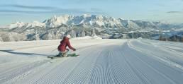 Skiing Saalbach